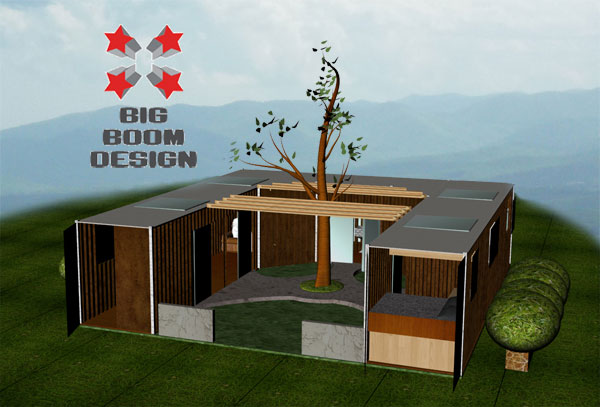 Shipping container homes modern home exteriors for Containers homes plans