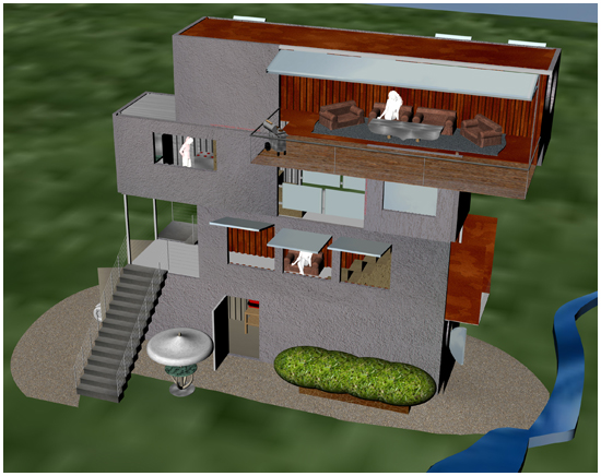 Boom box shipping container home v2 0 big boom blog for 2 story box house plans