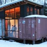 Shipping Container Used as a Hunting Cabin