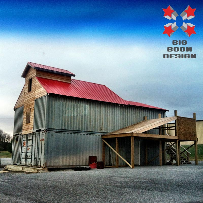 Shipping Container Barn Project In Tennessee Big Boom Blog